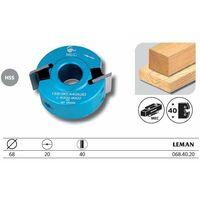 Leman - Porte-outils à profiler Diamètre 68 mm haut. 40 mm - 068.40.20