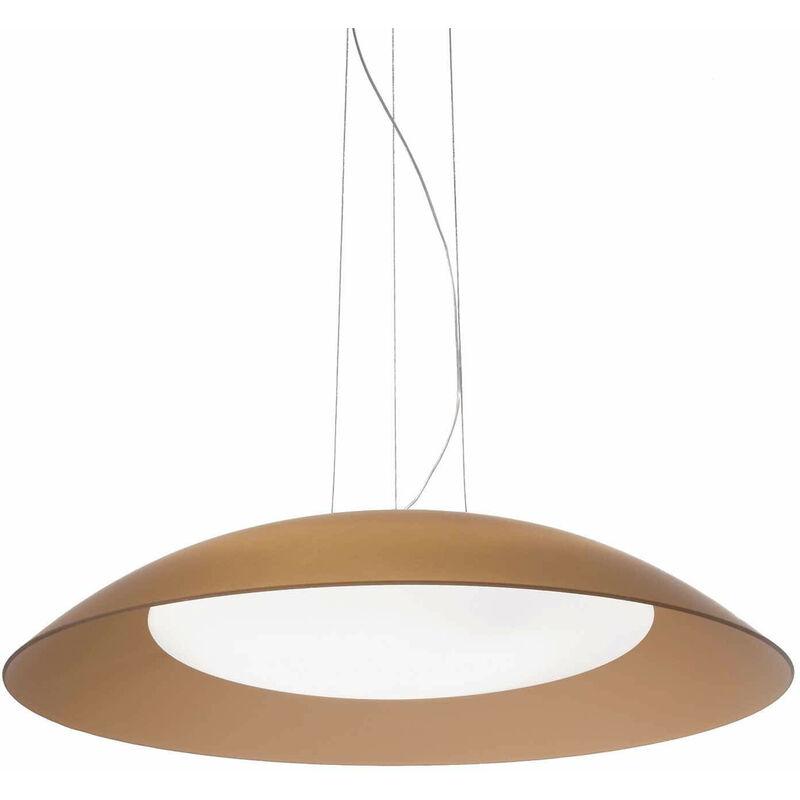 01-ideal Lux - LENA braune Pendelleuchte 3 Glühbirnen