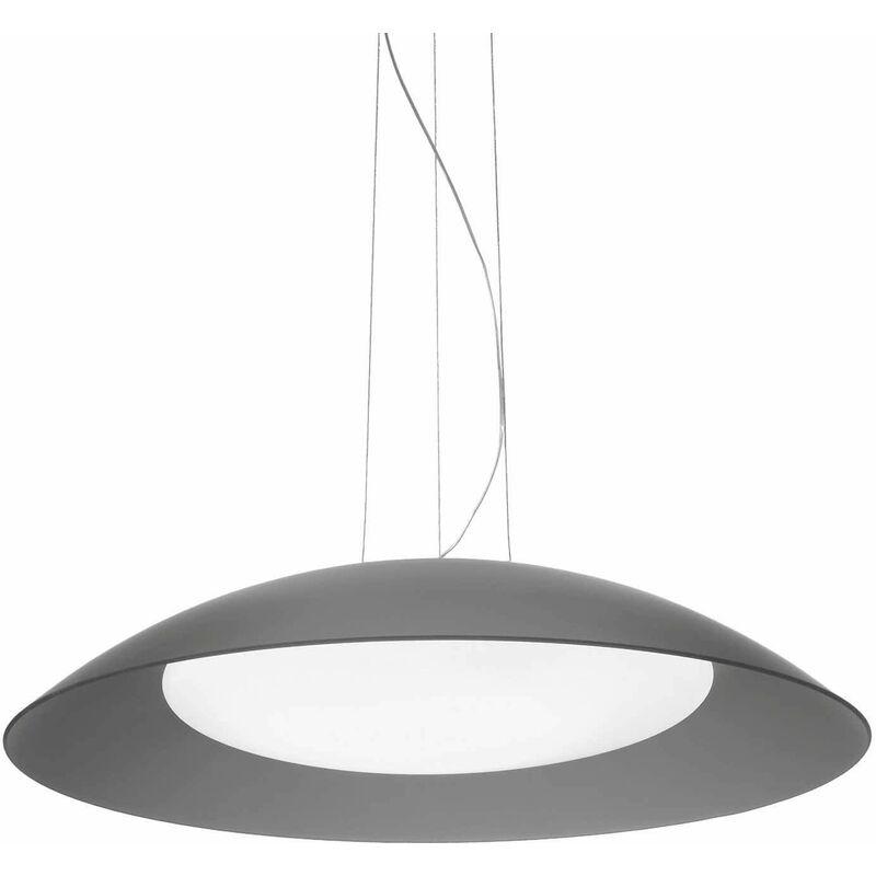 01-ideal Lux - LENA graue Pendelleuchte 3 Glühbirnen