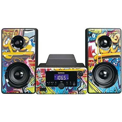 Lenco MC-020 Home Audio Mini System 10W Microcadena (Home Audio Mini System, Imagen, 10 W, FM,PLL, Azul)