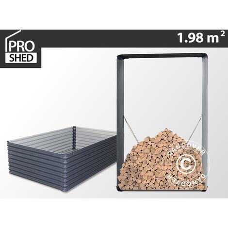 "main image of ""Leñero exterior/arriate elevado de flores 1,10x0,52x1,80m ProShed®, Antracita"""