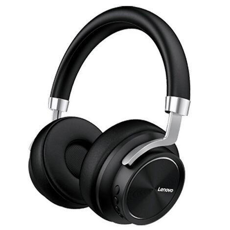 Lenovo Hd800 Headphone Bt5.0 Casque Sans Fil / Filaire Livre Avec Une Prise De 3,5 Mm / Un Pilote Puissant De 40 Mm / Un Casque Antibruit Ergonomique Pour Le Jeu, Noir
