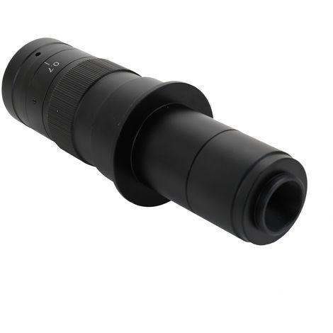 Lente con montura C con zoom 180X ajustable, 0.7X ~ 4.5X, 25 mm para camara de microscopio