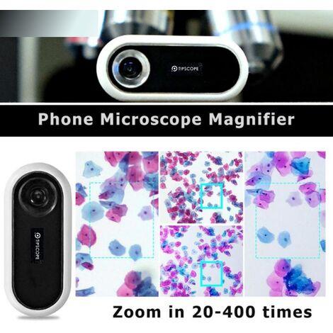 Lente d'ingrandimento per lente d'ingrandimento per microscopio per telefono portatile 20X-400X universale compatibile per Android per IOS LAVENTE