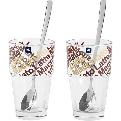 LEONARDO LEONARDO Latte Macchiato Set Café Latte Solo 370 ml 20,2cm 4 teilig