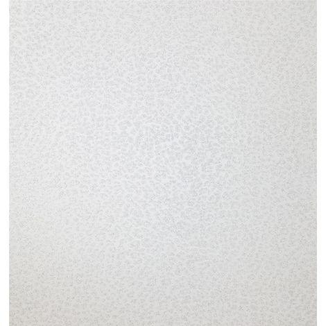Leopard Animal Print Silver Glitter Wallpaper Shimmer White Textured Modern