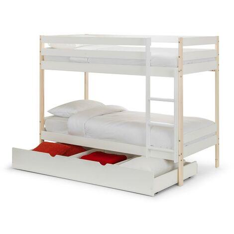 Leora Bunk Bed 3ft Single 90 x 190 White & Pine