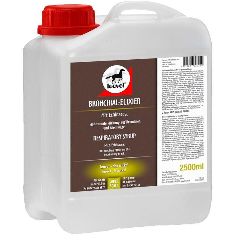 Leovet Bronchial Elixir - élixir pour les bronches 1 l avec toute la puissance des extraits naturels d'herbes