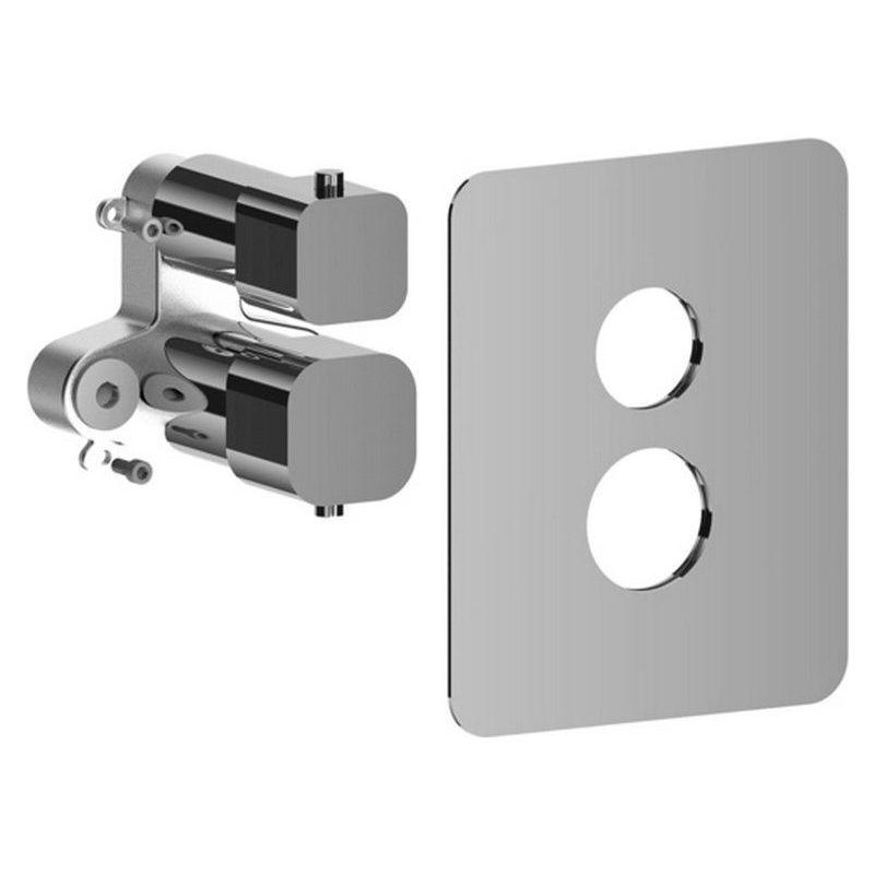 LEQBOX512CR Set esterno miscelatore termostatico incasso doccia LEVEL PAFFONI