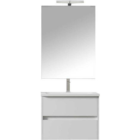 LERMA Conjunto mueble de baño blanco 60 cm