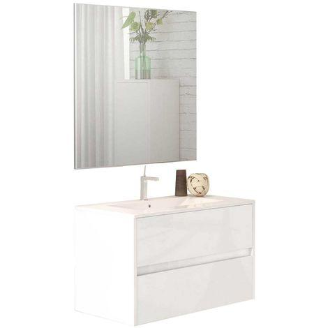 LERMA Conjunto mueble de baño blanco 80 cm