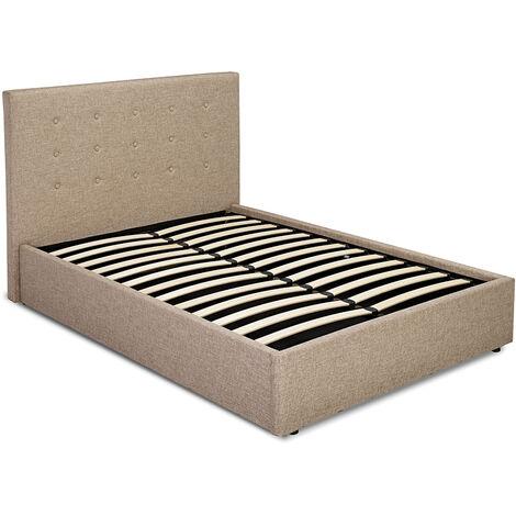 Lerny 4.6 Double Bed Beige