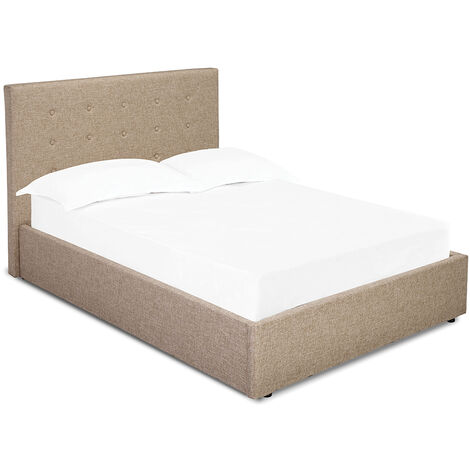 Lerny Plus 4.0 Small Double Bed Beige