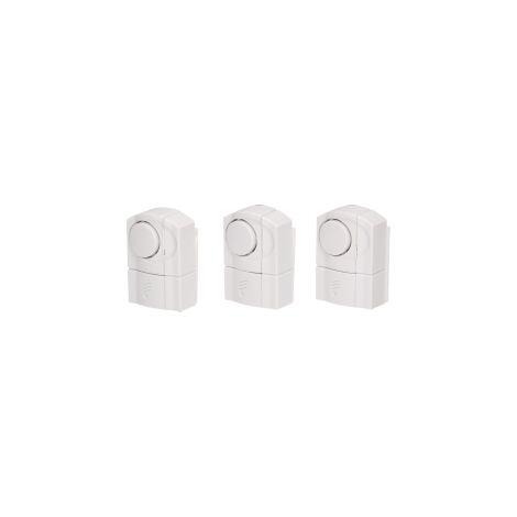 les alarmes activées Mini pour fenêtres - portes., 3 pièces, Batterie