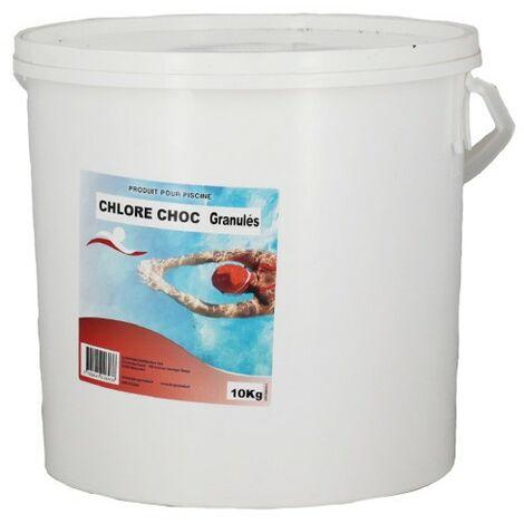 Les CHLORE CHOC GRANULÉS 10 KG - Swimmer - Plusieurs modèles disponibles