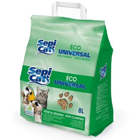 Les copeaux de bois Cat 8 litres   granulés de bois absorbant Sepicat Eco Universal   Chip pour bac à litière pour chats