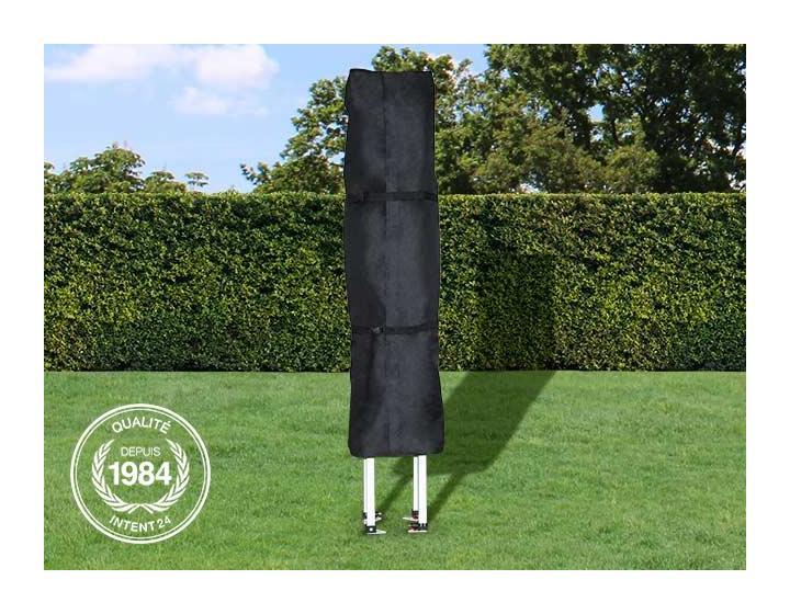 Les housses de protection d'INTENT24 pour tentes pliantes barnum pliant tente de jardin tente parapluie 3x3 mètres, sont en matériau Oxford noir