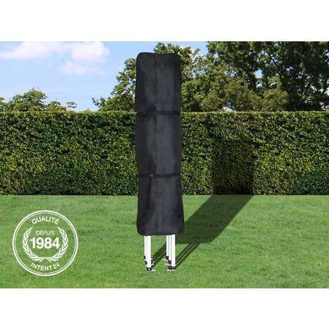 Les housses de protection d'INTENT24 pour tentes pliantes barnum pliant tente de jardin tente parapluie 3x6 mètres, sont en matériau Oxford noir hydrofuge et anti-salissures d'épaisseur 480 g/m²