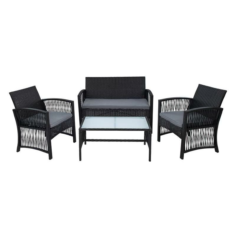 Les meubles en osier de jardin salon rotin meubles de jardin en rotin noir