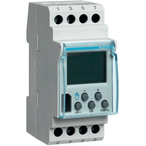 Les temps de commutation Hager numérique hebdomadaire 16A 2 modules EG103B