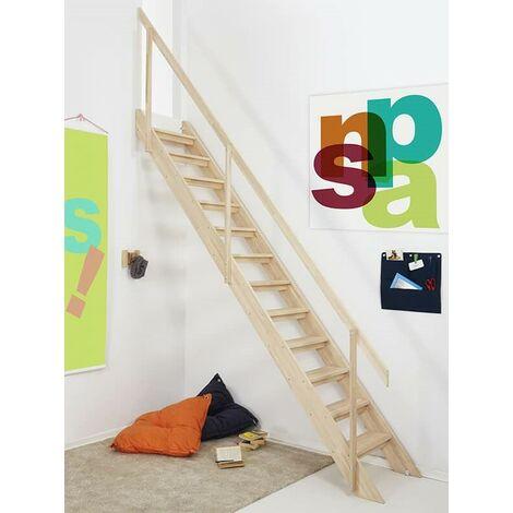 L'escalier de Bois de Hêtre « Snap » avec main courante