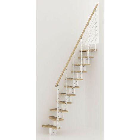 L'espace scène polyvalente pixima - acier blanc escalier en hêtre clair