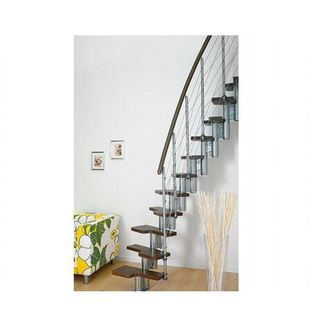L'espace scène polyvalente pixima - escalier en hêtre chrome foncé en acier