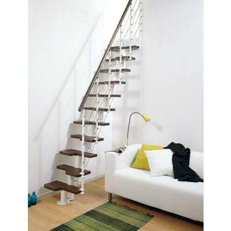 L'espace scène polyvalente pixima - escalier en hêtre noir en acier blanc