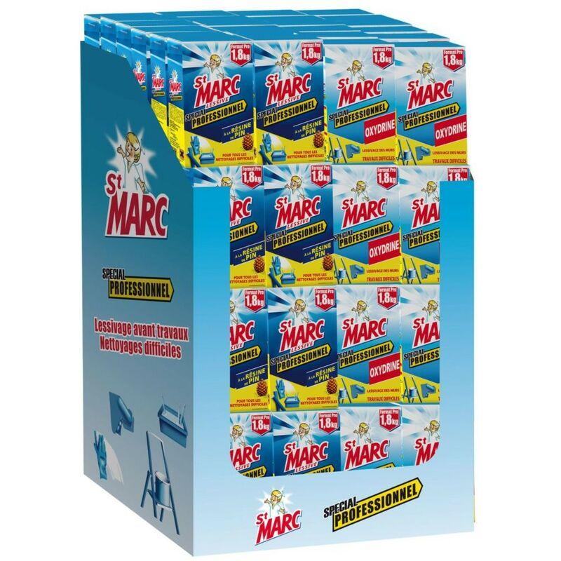 Lessive Saint Marc Professionnelle Et Oxydrine 1 8kg Box De 96 Paquets 346730
