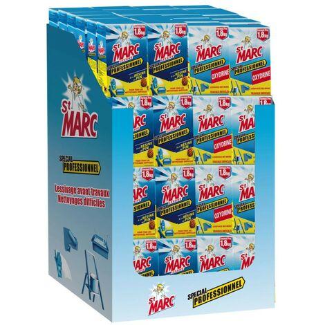 Lessive Saint Marc professionnelle et Oxydrine 1.8kg, box de 96 paquets