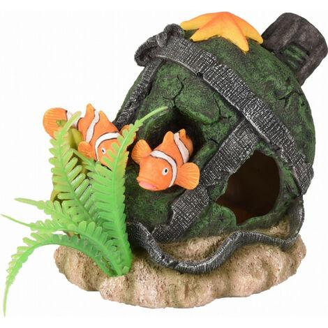 Leto cruche et poisson decoration aquarium