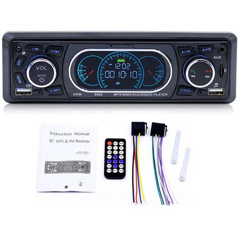 LETOUCH Autoradio Voiture Stereo Mains Libres Bluetooth pour voiture Radio FM Lecteur MP3 Lecteur USB / SD / AUX avec telecommande