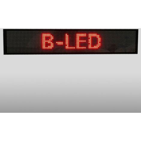 Letrero LED programable monocolor rojo 500x95mm WIFI / USB