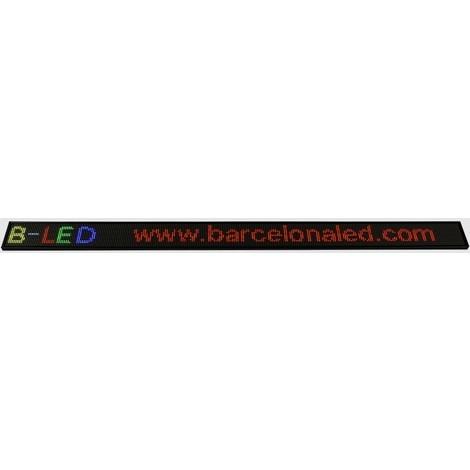 Letrero LED programable RGB 1300x95mm WIFI / USB