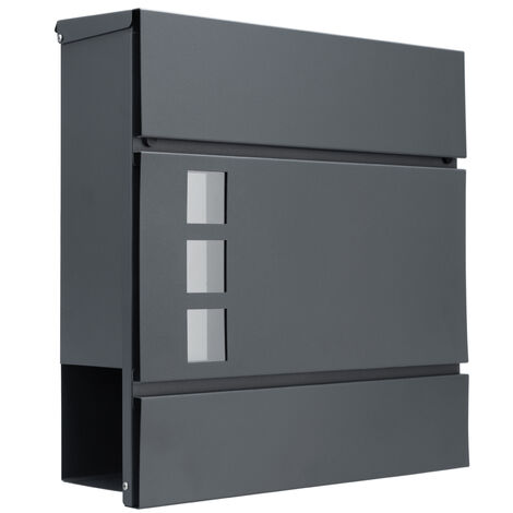 Letterbox Letter Post Mail Postbox Letter Steel Wall Mount Mailbox Anthracite