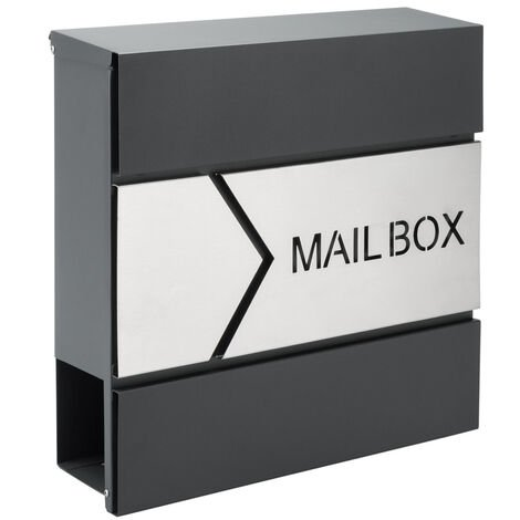 Letterbox Letter Post Mail Postbox Letter Steel Wall Mount Newspaper Mailbox