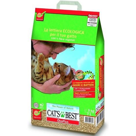 Lettiera Ecologica Cats Best Okoplus Da 7 Lt 3kg