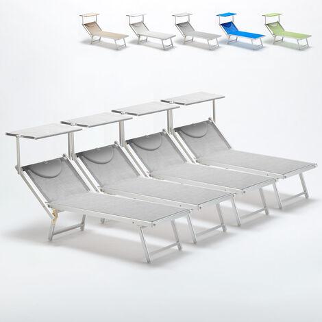 Lettini Da Spiaggia Alluminio.Lettini Mare Prendisole Professionali Sdraio Alluminio Spiaggia