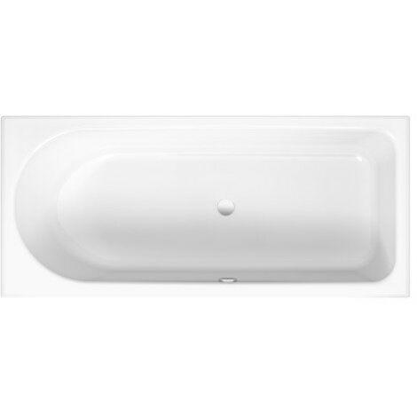 Lettino da bagno Ocean 180x80 cm, 8857, frontale a sfioro, bianco, colorazione: Bianco - 8857-000