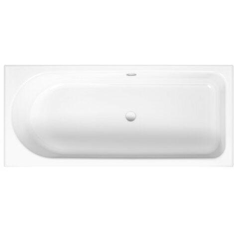 Lettino da bagno Ocean Low-Line 150x70 cm, 8841, troppopieno posteriore, bianco, colorazione: Bianco - 8841-000