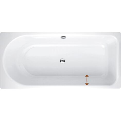 Lettino da bagno Ocean Low-Line 180x80 cm, 8839-, frontale a sfioro, bianco, colorazione: Bianco - 8839-000