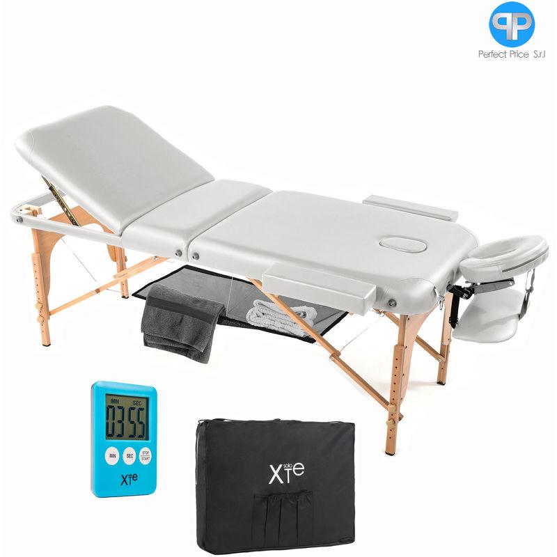 Lettino Da Massaggio Lettini Massaggi 3 Zone Legno Portatile 12cm