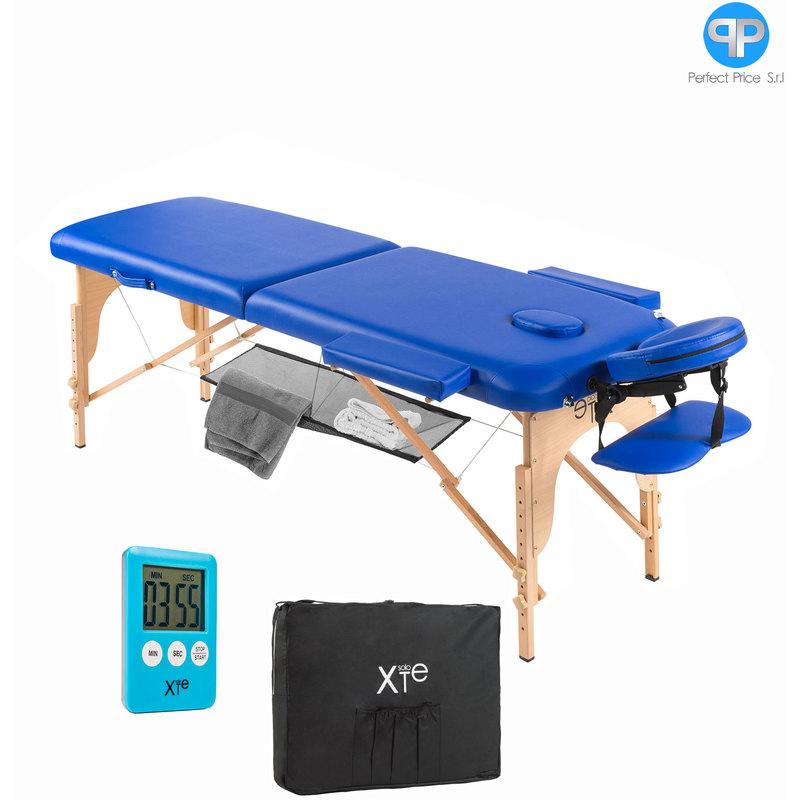 Lettino Da Massaggio In Legno.Lettino Blu Da Massaggio Lettini Per Massaggi Estetica 2 Zone