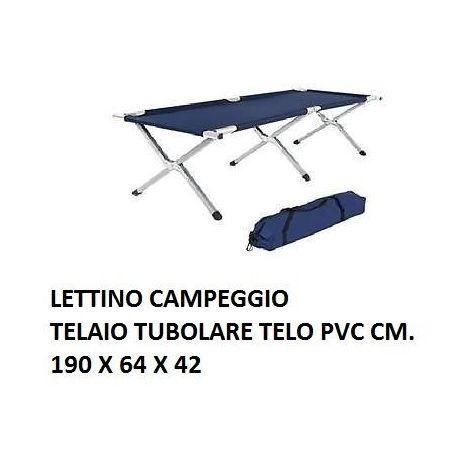 Brandina Campeggio Pieghevole.Lettino Letto Brandina Da Campeggio Pieghevole Blu Cm 190 X 64 X 42 Telaio Al