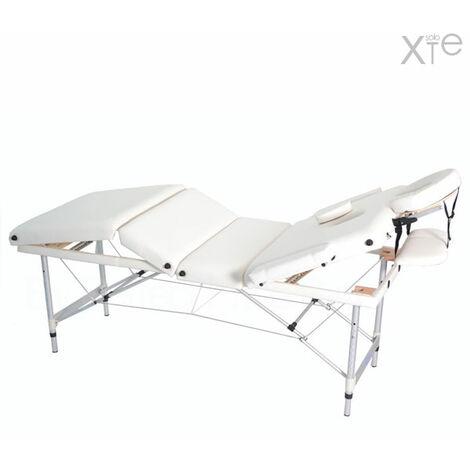 Lettino Massaggio Portatile In Alluminio.Lettino Portatile Professionale Bianco Reclinabile 4 Zone Con