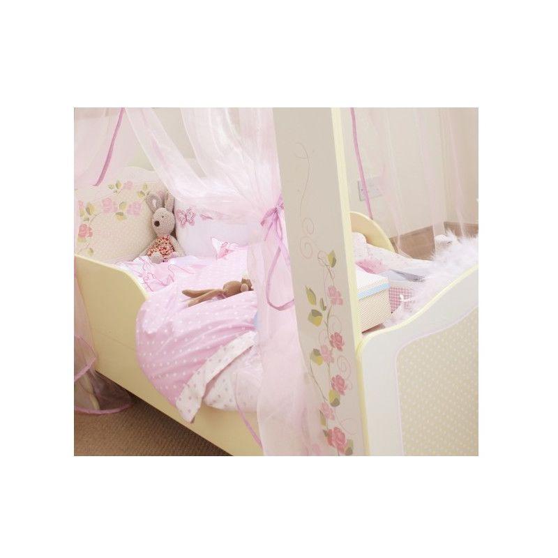 Letto A Baldacchino Rosa.Letto A Baldacchino In Legno Per Bambine Di Ottima Fattezza E
