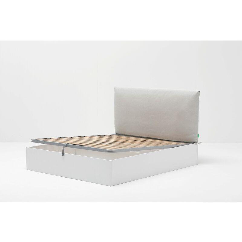 Letto Matrimoniale 160x190.Letto Contenitore Cangu Hi Box Con Testiera Soffy Panna