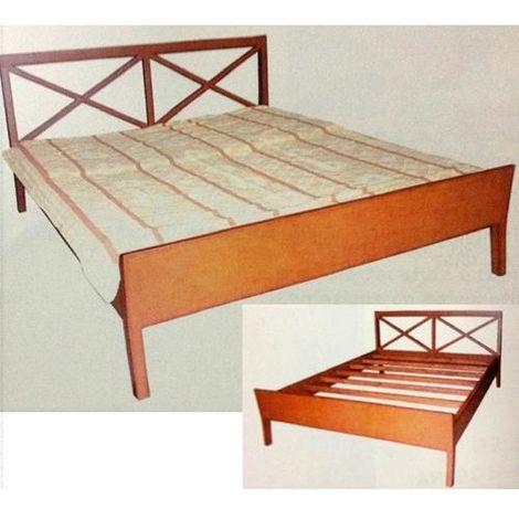 Letto matrimoniale in legno Serie CASALE 166x196 cm