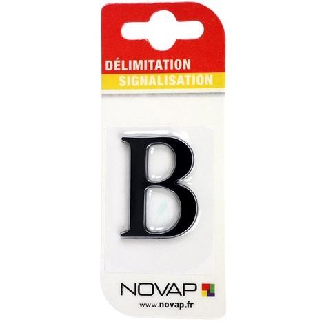 Lettre B en relief autocollant - Noire