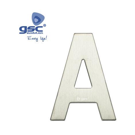Lettre de porte A en acier inoxydable avec adhésif GSC 003302620